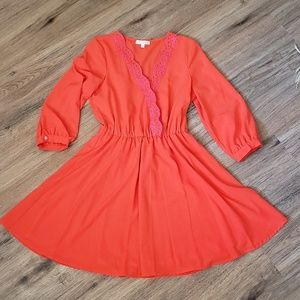 Gianni Bini Scalloped Dress